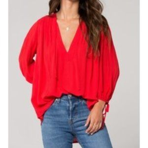 Band of Gypsies Miami V Neck Lace Top